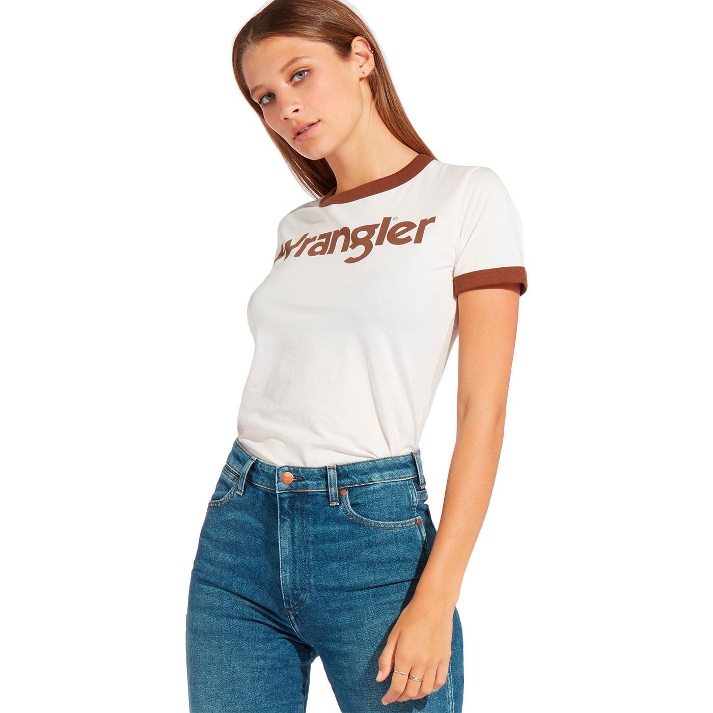 WRANGLER Women's Retro 1970s Logo Ringer Tee (PP)