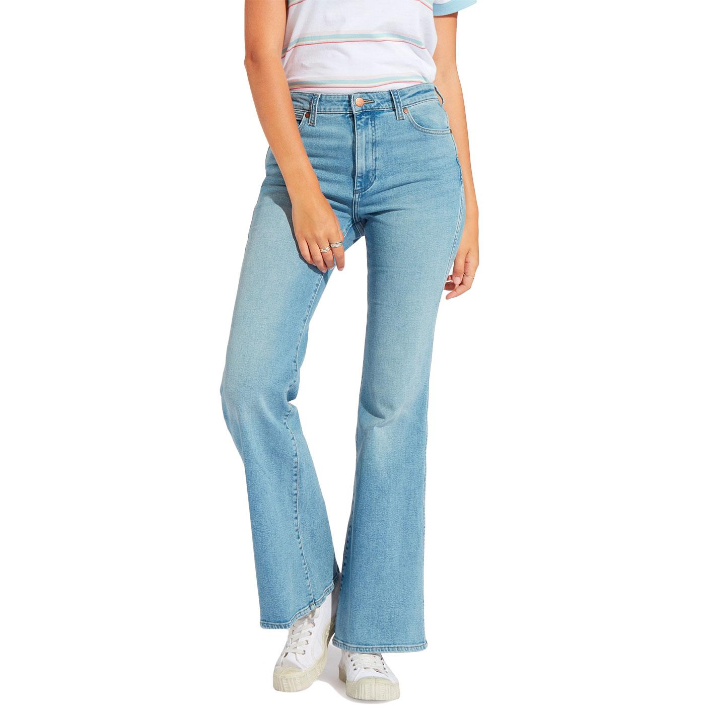 WRANGLER Women's 70s Retro Flare Jeans DESERT SKY