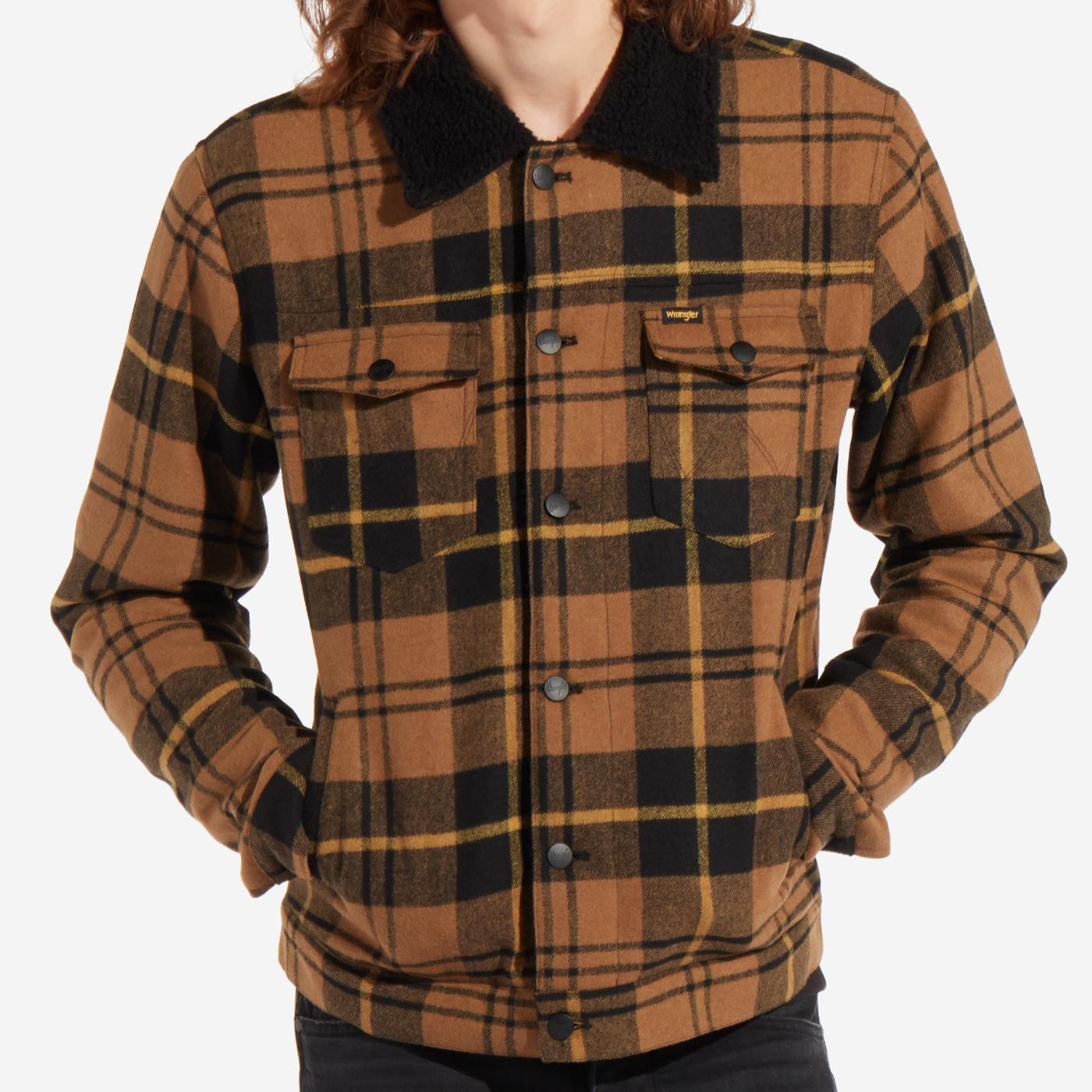 WRANGLER Wool Sherpa Trucker Jacket (Golden Brown)