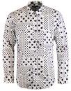 1 like no other titen retro mod polka dot shirt