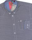 3 And Out LUKE 1977 Mod Geometric Pattern Shirt