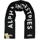 ALPHA INDUSTRIES Men's Retro Knitted Scarf - Black