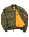 MA1 VF ALPHA INDUSTRIES Mod Bomber Jacket GREEN