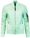 alpha industries ma1 tt womens bomber jacket mint