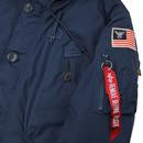 Polar ALPHA INDUSTRIES Mod Patched Parka (Navy)
