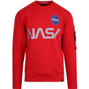 Alpha industries nasa ref sweater speed red