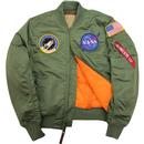 Alpha Industries MA-1 VF NASA Bomber Jacket Sage
