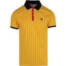BB1 Fila vintage pinstripe polo shirt gold fusion
