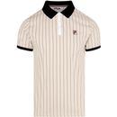 BB1 Fila vintage pinstripe polo shirt sand dollar