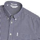 BEN SHERMAN Archive Modernist Check Mod Shirt NAVY