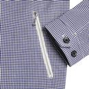 BEN SHERMAN Mod Archive Gingham Sports Jacket NAVY