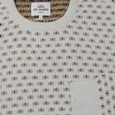 BEN SHERMAN Retro Geo Knit Crew Neck Jumper (OW)