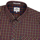 BEN SHERMAN House Check Short Sleeve Shirt ROSE