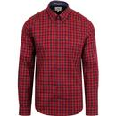 ben sherman house check button down shirt red