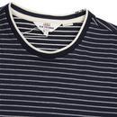 BEN SHERMAN Retro Tonal Stripe Longline Tee (DN)