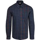 Ben Sherman men's retro mixed gingham check shirt