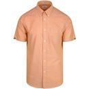 Ben sherman mod button down core oxford shirt orange