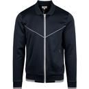 Ben sherman men's tricot polo collar track top navy blazer