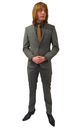 Taupe Check BEN SHERMAN Retro 60s Mod Slim Suit