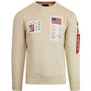 Alpha industries blood chit sweater vintage white