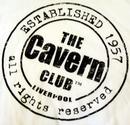 CAVERN CLUB Stamp Logo Retro 60s Mod T-Shirt (W)