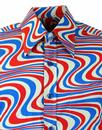 Heatwave CHENASKI Retro Mod Op Art Wave Shirt G/P