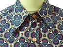 Dotsgrid CHENASKI Retro 70s Big Collar Mod Shirt B