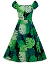 Dolores COLLECTIF Retro 50s Tahiti Palm Doll Dress