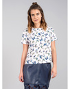 DARLING BLUEBELL RETRO 60S WOMENS FLORAL BOX TOP