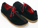 Dusty - Retro Sixties Mod Suede Centre Seam Shoes