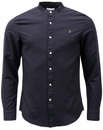 Brewer Grandad Collar FARAH Retro Mod Oxford Shirt
