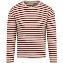 Farah bain stripe long sleeve cloudy
