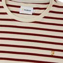 Bain FARAH Retro Breton Stripe Long Sleeve Tee