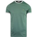 Farah groves ringer short sleeve tee green biscuit