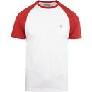 Farah zemlak raglan short sleeve tee red coat