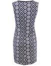 Cheyenne FEVER Retro 1960s Geometric Mosaic Dress
