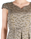 Cora FEVER Retro Sixties Mod Metallic Prom Dress
