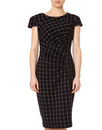 Highlands FEVER Retro 1960s Geo Grid Pencil Dress