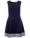 FEVER MARGATE CHEYENNE RETRO 60S FLARED DRESS