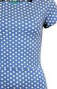 Millie FEVER Retro 60s Scalloped Polka Dot Dress