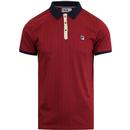 BB1 FILA VINTAGE Retro 70's Borg Tennis Polo (RED)