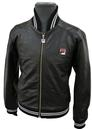 FILA VINTAGE MENS LEATHER MATCHDAY JACKET RETRO