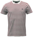 FRED PERRY RETRO INDIE BRETON STRIPE T-SHIRT