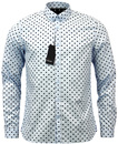 FRED PERRY RETRO INDIE MOD 60S POLKA DOT SHIRT
