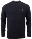 FRED PERRY RETRO INDIE TEXTURED KNITTED JUMPER
