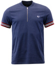 FRED PERRY RETRO INDIE MOD ZIP PLACKET POLO
