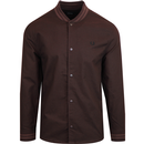 Fred perry bomber shirt dark cherry