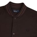 FRED PERRY Men's Retro Mod Bomber Collar Overshirt