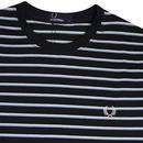 FRED PERRY Retro Fine Stripe Crew Neck T-Shirt N