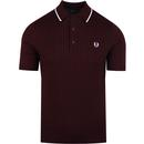 Fred perry tipped knitted shirt mahogany